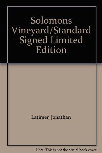 9789990581867: Solomons Vineyard/Standard Signed Limited Edition