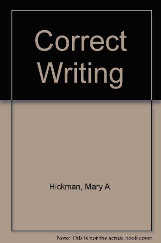 Correct Writing: Mary A. Hickman, Eugenia W. Butler, Eugenia Butler