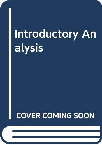 Introductory Analysis (9990814066) by Mary P. Dolciani; Robert H. Sorgenfrey; John A. Graham; David L. Myers