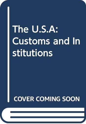 9789990816693: The U.S.A: Customs and Institutions