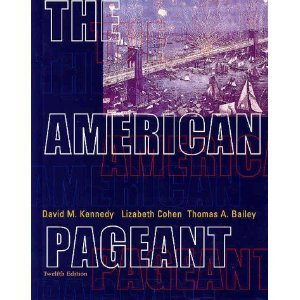 9789990817546: T.Bailey's, D.Kennedy's The American Pageant 12th(twelfth) edition(The American Pageant: A History of the Republic, 12th Edition [Hardcover])(2001)
