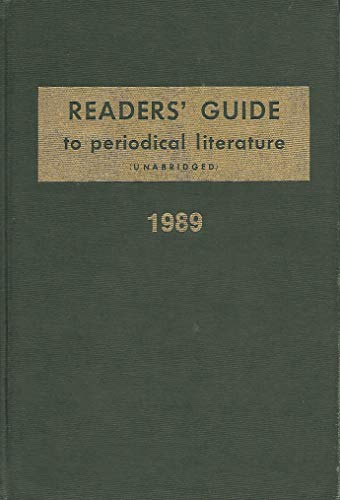 Readers Guide to Periodical Literature 1989: Jean M. Marra