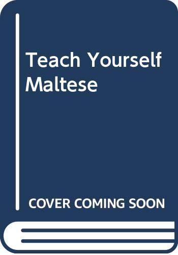 9789990930375: Teach Yourself Maltese