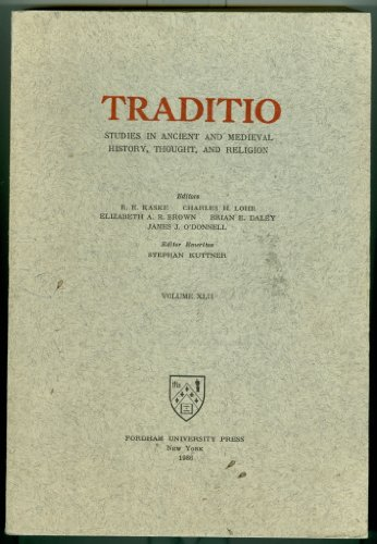 9789990962796: Traditio: Studies in Ancient and Medieval History Thought and Religion