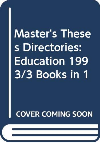 Master's Theses Directories: Education 1993/3 Books in: Herbert M. Silvey
