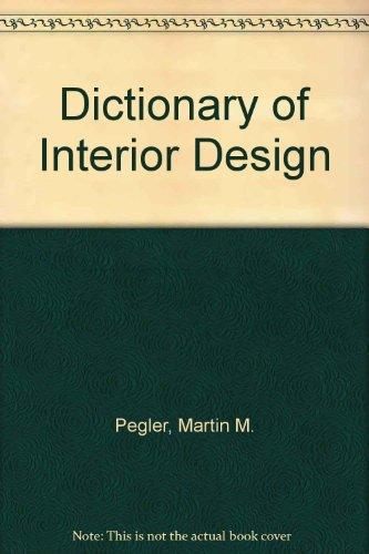 9789991096605: Dictionary of Interior Design