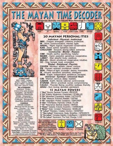 9789991271446: SMALL CHART, MAYAN TIME DECODER-GALACTIC ALIGNMENT ACCELERATOR (8-1/2
