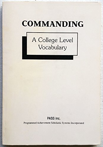 9789991489636: Commanding a College Level Vocabulary