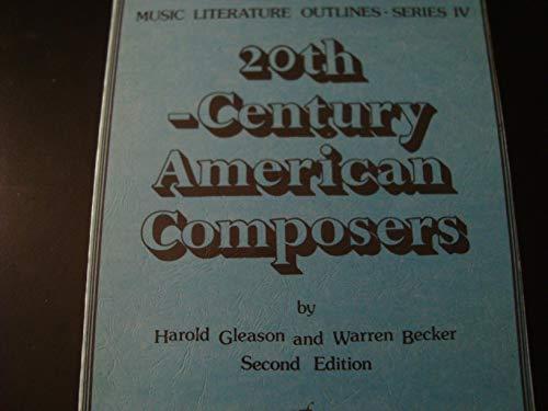 9789991737980: Twentieth Century American Composers