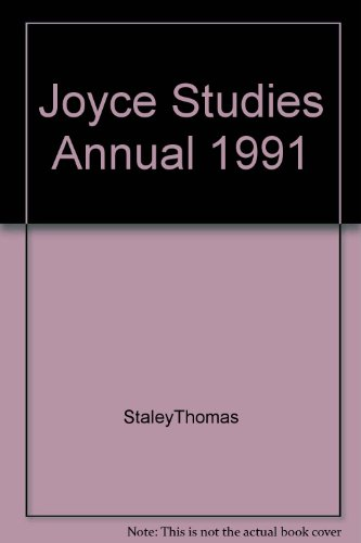 9789991849461: Joyce Studies Annual, 1991