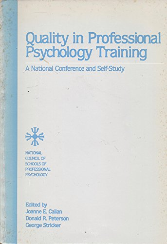 9789991917740: Quality in Professional Psychology Training : A National Conference and Self-Study