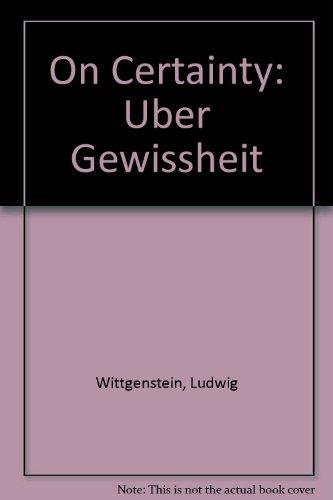 9789991941813: On Certainty: Uber Gewissheit
