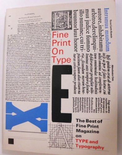 9789991997643: Fine Print on Type