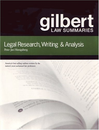 9789992181423: Gilbert Law Summaries: Legal Research, Writing & Analysis