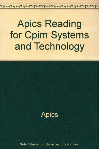 9789992292433: Apics Reading for Cpim Systems and Technology