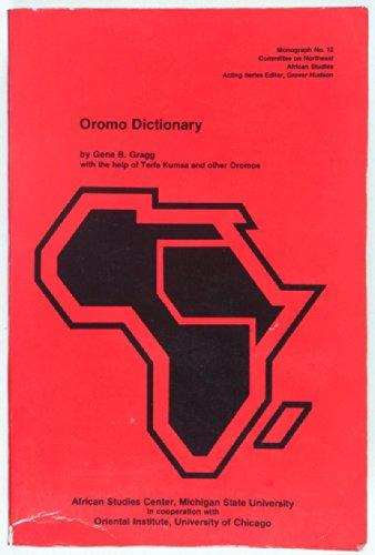 9789992604991: Oromo Dictionary