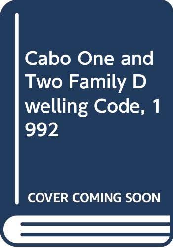 9789992677247: Cabo One and Two Family Dwelling Code, 1992