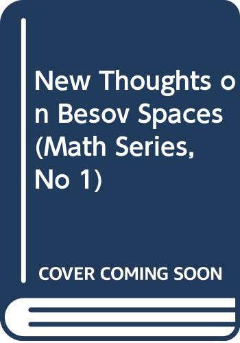 9789993246176: New Thoughts on Besov Spaces (Math Series, No 1)