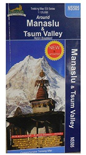 9789993323105: Manaslu & Tsum Valley 1 : 125 000: With detailed trails - Walking distances - Altitudes (Nepa Trekking Maps)