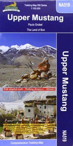 9789993323952: Upper Mustang: The Last Forbidden Kingdom Map