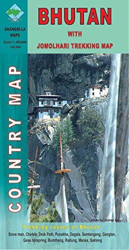 9789993360247: Bhutan with Jomolhari - Country Map - Scale 1: 450 000 & 100 000