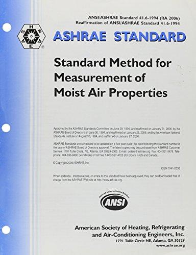 9789993438168: Standard 41.6 Method for Measurement of Moist Air Properties