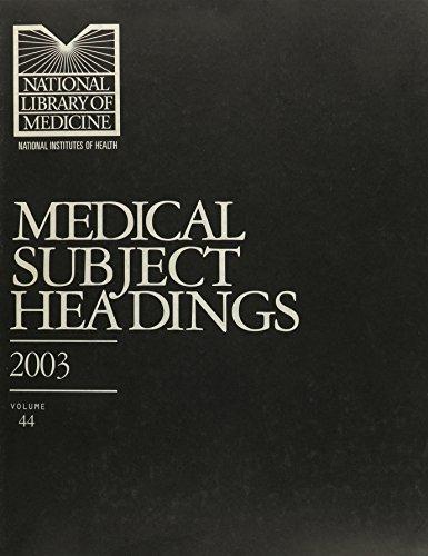 9789993928348: Medical Subject Headings 2003 (Medical Subject Headings)