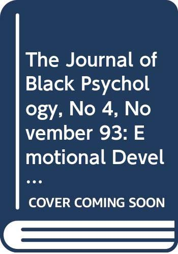 The Journal of Black Psychology, No 4,