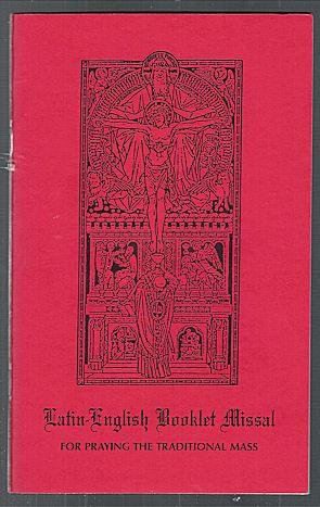 Latin English Booklet Missal for Praying the