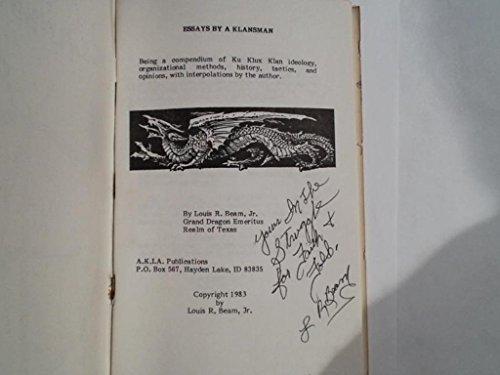 9789994699247: Essays of a Klansman
