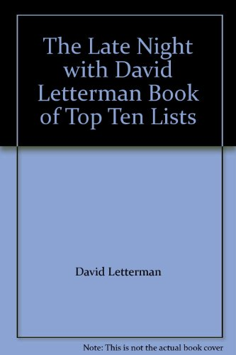 9789994768479: The Late Night with David Letterman Book of Top Ten Lists