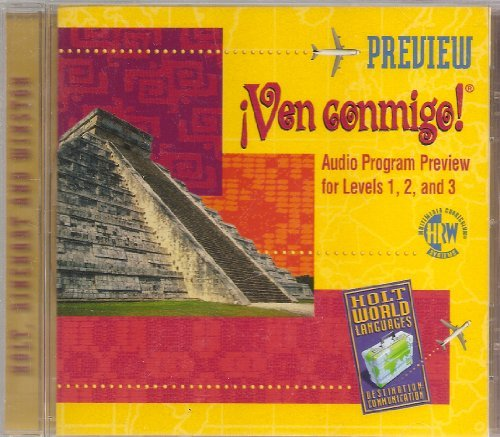 9789995007737: Ven Conmigo! Audio Program Preview for Levels 1, 2, & 3