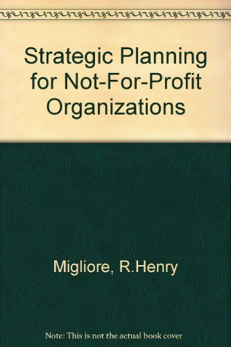9789995225285: Strategic Planning for Not-For-Profit Organizations