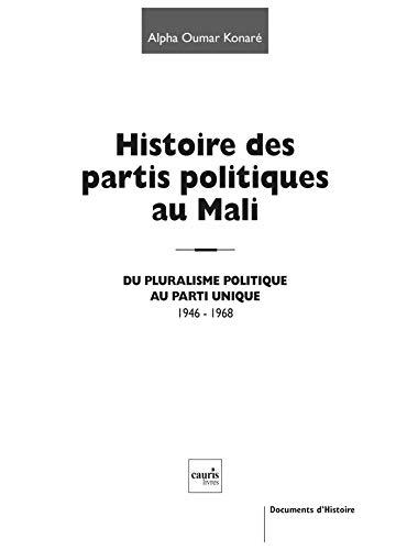 HISTOIRE DES PARTIS POLITIQUES AU MALI: KONARE ALPHA OUMAR