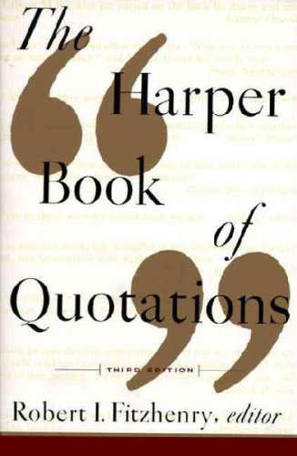 9789995269401: The Harper Book of Quotations