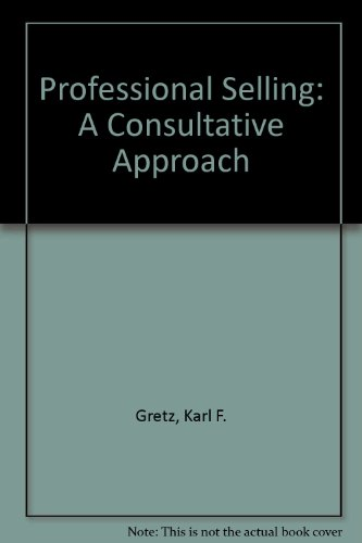 9789995413804: Professional Selling: A Consultative Approach