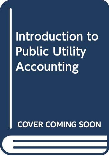 9789995580339: Introduction to Public Utility Accounting
