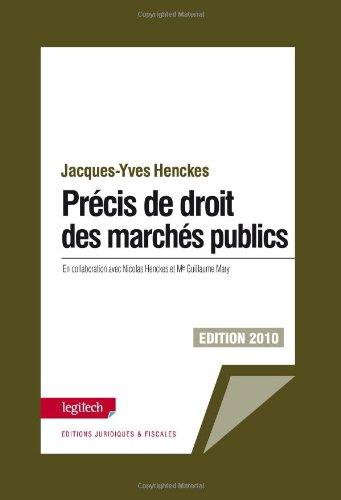 9789995962647: précis de droit des marchés publics (édition 2010)