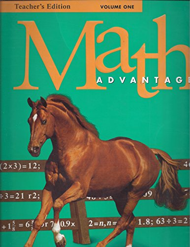 Harcourt Brace Math Advantage, Volume One Teacher's Edition: N/A