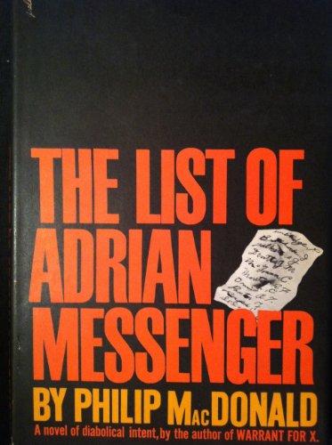 9789997402486: List of Adrian Messenger