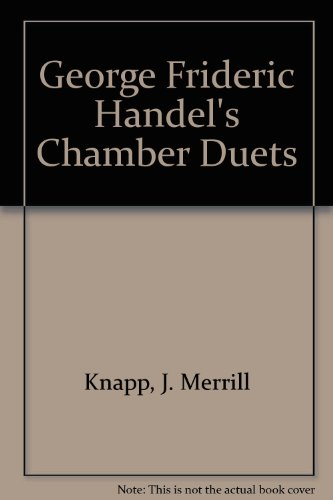 9789997451040: George Frideric Handel's Chamber Duets