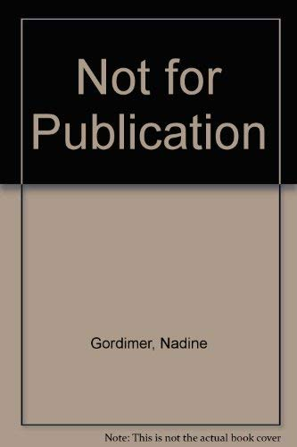 9789997546050: Not for Publication
