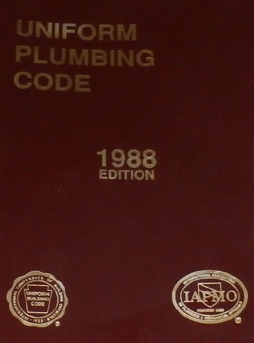 Uniform Plumbing Code, 1988