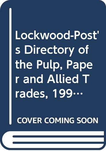 9789997823748: Lockwood-Post's Directory of the Pulp, Paper and Allied Trades, 1998 (Annual)