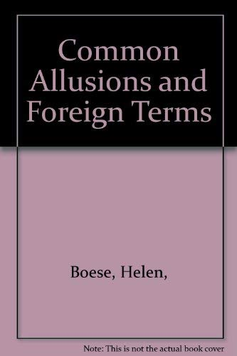 9789998169258: Common Allusions and Foreign Terms