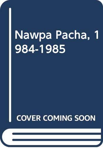 9789998178854: Nawpa Pacha, 1984-1985