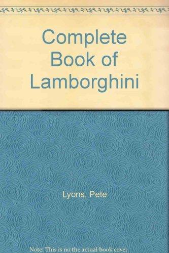 9789998272750: Complete Book of Lamborghini