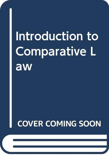 9789998720473: Introduction to Comparative Law