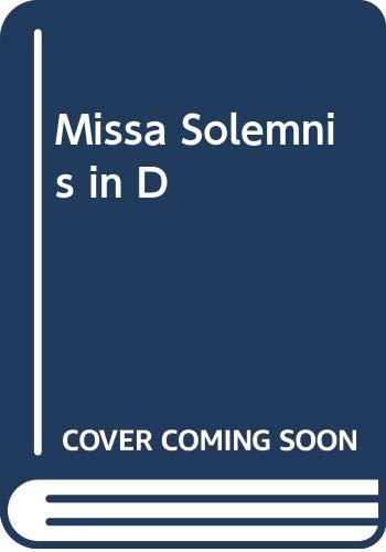 9789998799530: Missa Solemnis in D