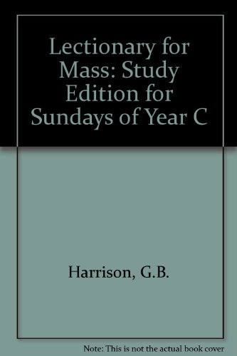 9789998843448: Lectionary for Mass: Study Edition for Sundays of Year C